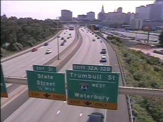 CAM 81 Hartford I-91 SB N/O Exit 32 A/B - N/O I-84 - Southbound