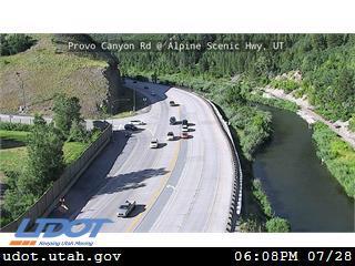 Provo Canyon Rd US 189 @ Alpine Scenic Hwy SR92 MP 14.26 UT