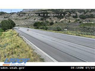 Provo Canyon Rd US 189 @ Mouth of Provo Canyon MP 8.26 ORM