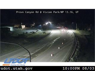 Provo Canyon Rd US 189 @ Vivian Park MP 13.16 UT